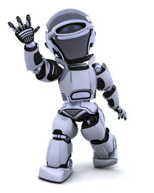 Robot waving
