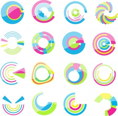 Collection of useful glossy styled design elements stock vector