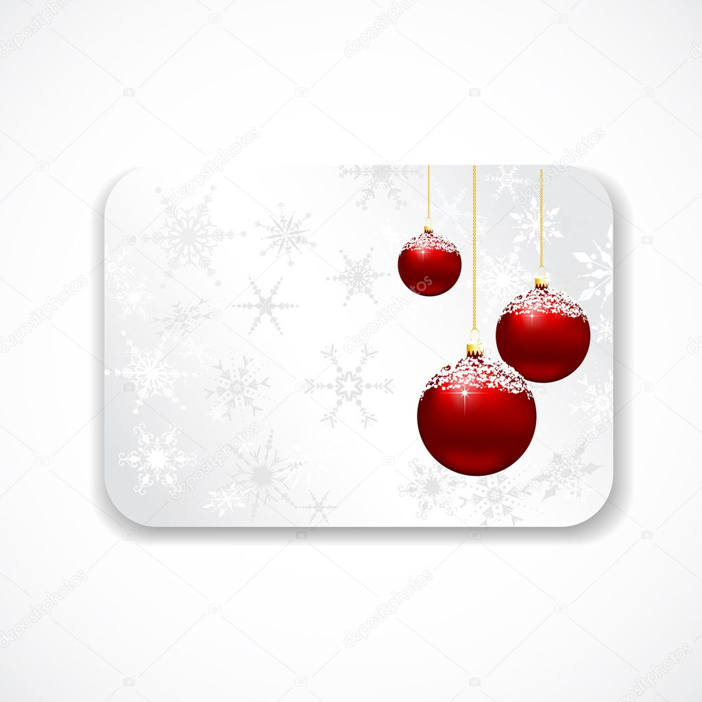 Christmas gift card stock photo kjpargeter 5045830 christmas gift card with snowflakes and baubles photo by kjpargeter negle Gallery