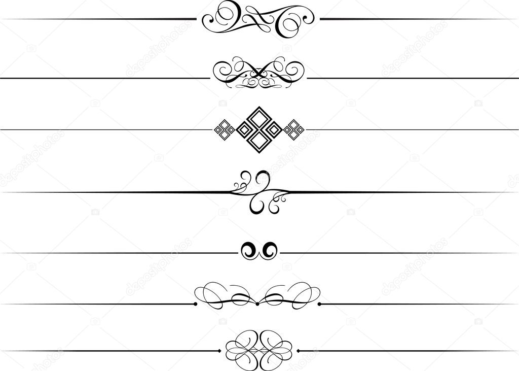 Decorative Page Dividers Stock Photo 169 Kjpargeter