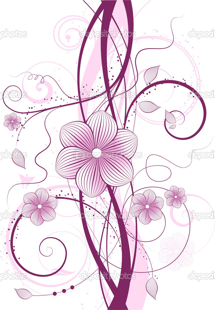 Decorative floral design in shades of pink