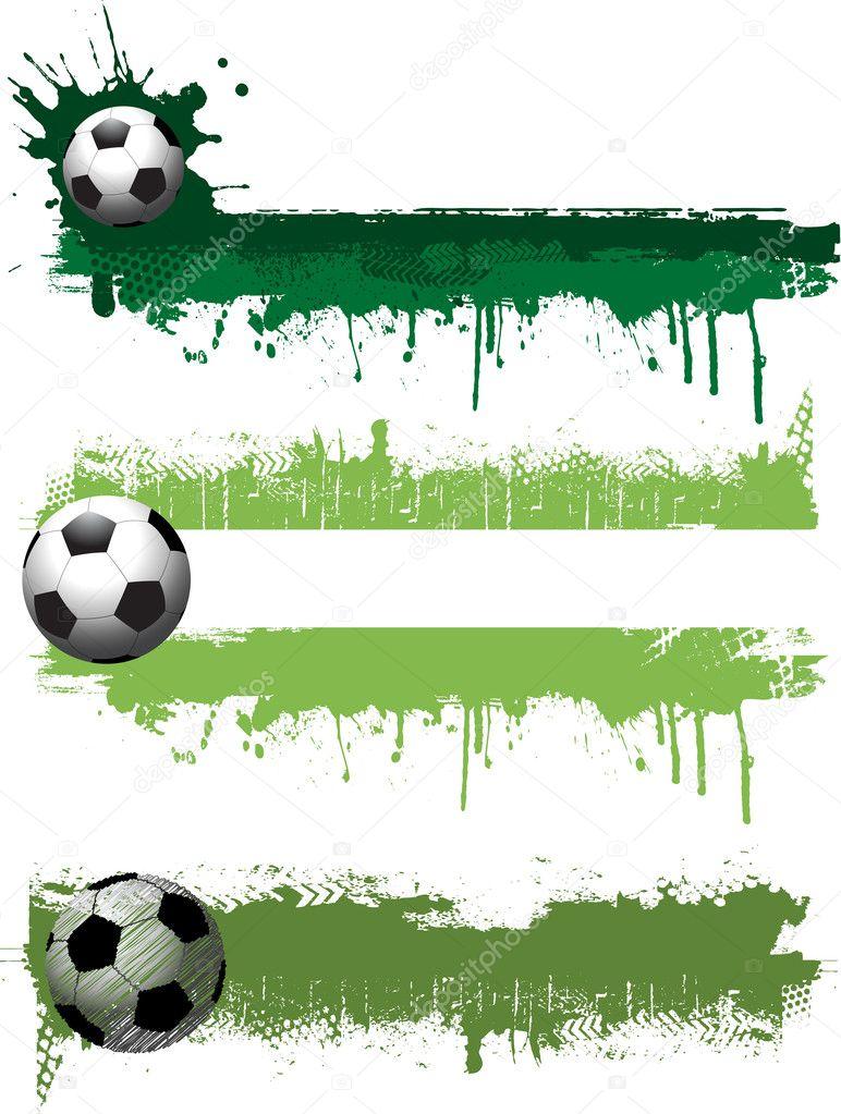 Гранж футболу банери — Стокове фото — Спорт © kjpargeter  5047248 7d51a40c00cd4