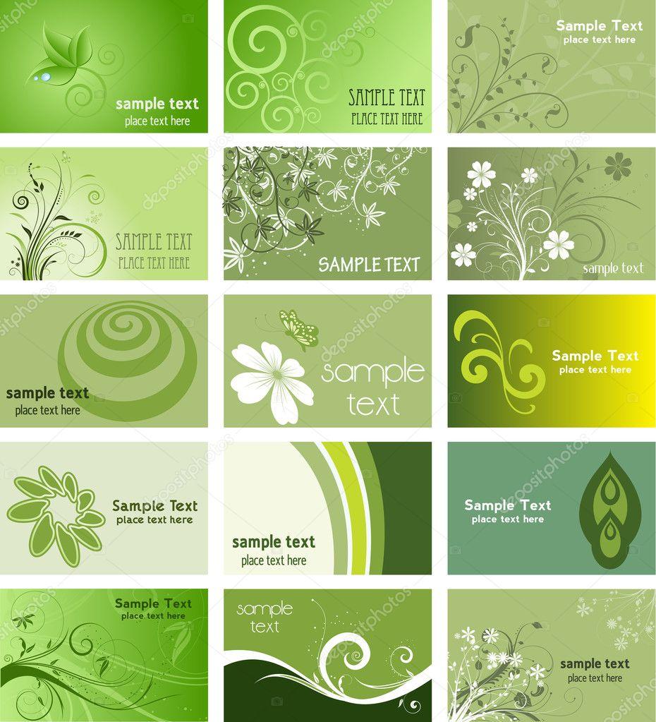 Cartes De Visite Sur Le Theme Nature Images Stock Libres Droits