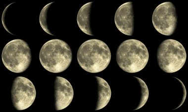 Full Moon Phases - yellow