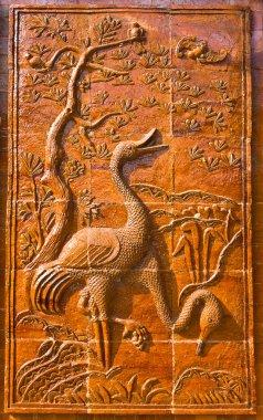 Bas – Relief of sarus crane