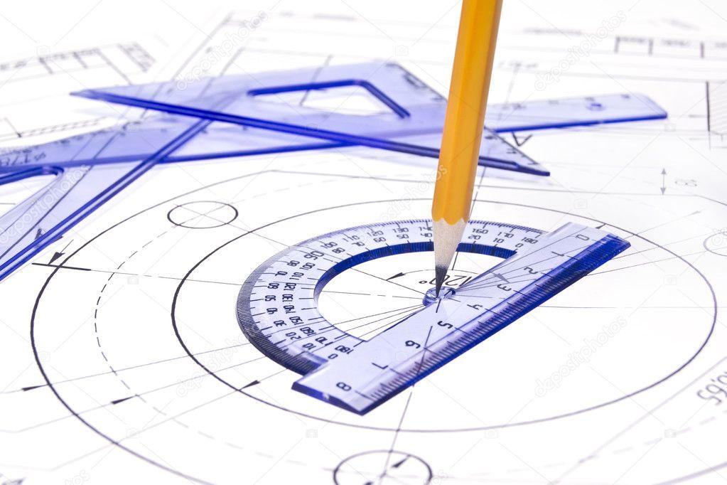 Engineering drawing equipment — Stock Photo © gemini62 #5361868