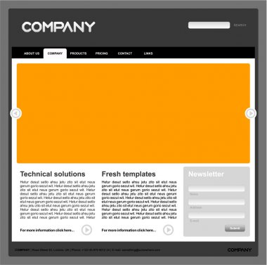 Clean vector web site design template