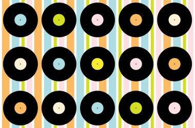 Vintage Vinyl Record Wallpaper