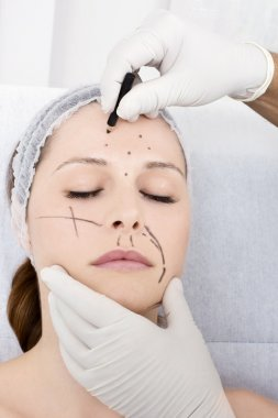 Woman cosmetic surgery