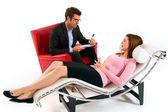 žena u psychologa