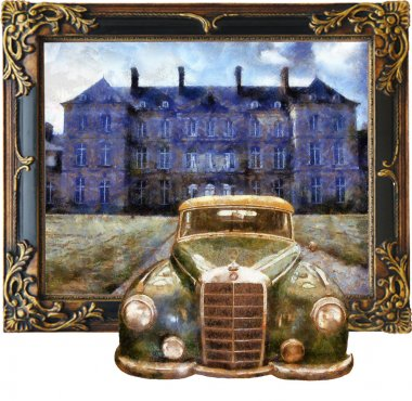 Vintage cars (3D oil painting)