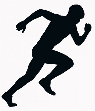 Sport Silhouette - Male Sprint Athlete