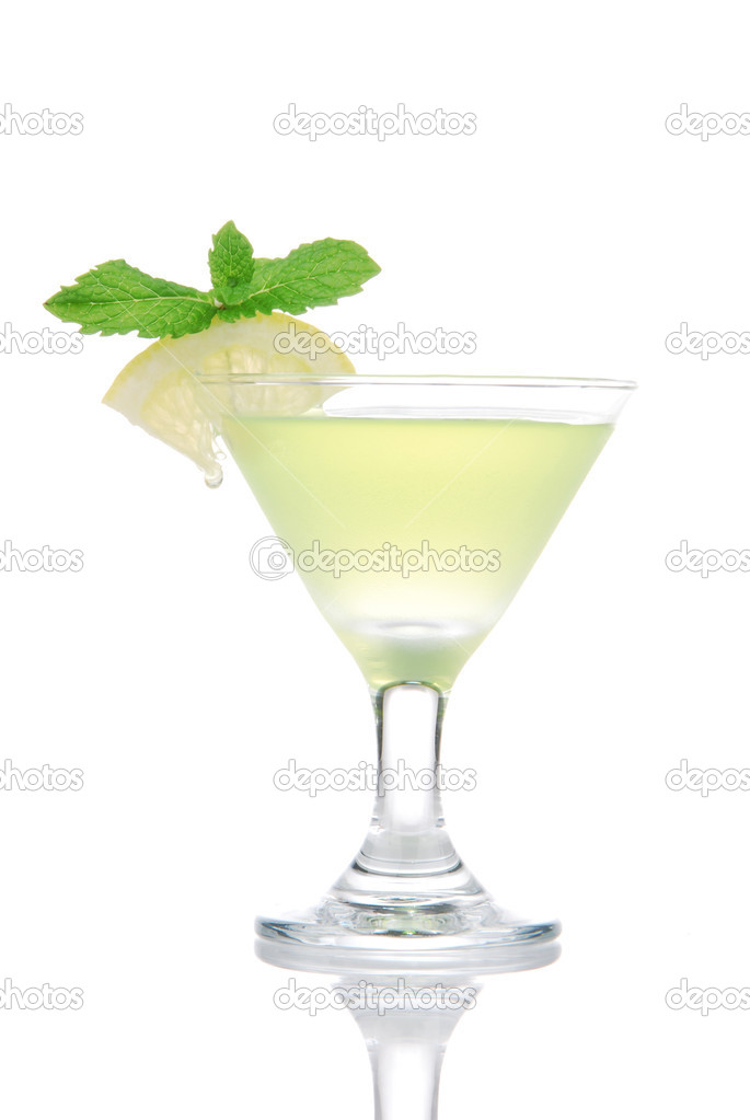 Yellow green martini Mojito Cocktail drink