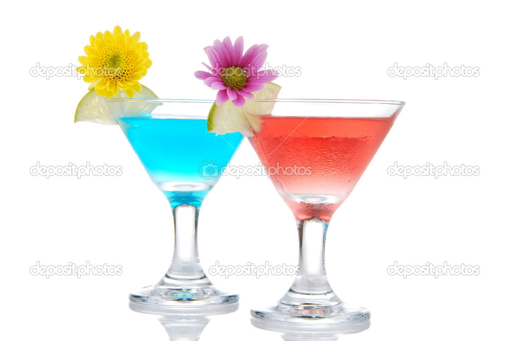 Tropical summer martini Cocktails row