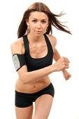 Fotografia donna fitness dieta, jogging, corsa, camminando in palestra