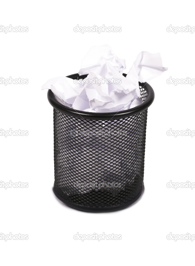 Office waste paper baskets, wire making. — Stock Photo © justinb ...