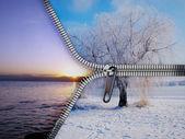 Fotografie zimní a letní