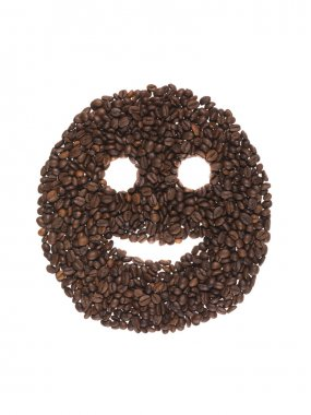 Smiling face of coffee beans