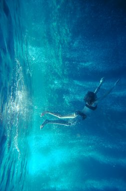 Freediving girl