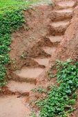 sár lépéseket