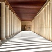 Ancient hallway in Athens, Greece