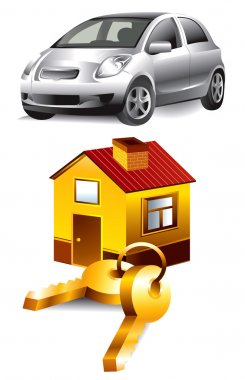 Vector Icons: car and home