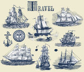 Photo Set of old ships