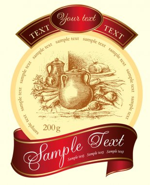 Vector label with retro design