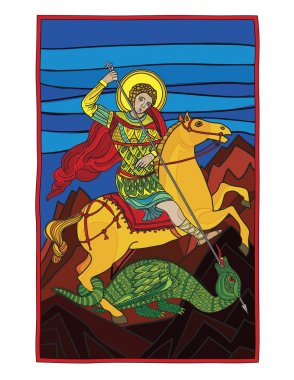 Saint gheorghe killing the dragon