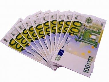 1000 euros in 100 euro banknotes