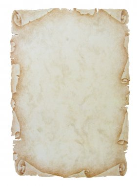 Vintage paper scroll background