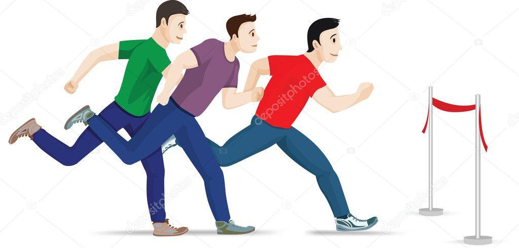 Three running man