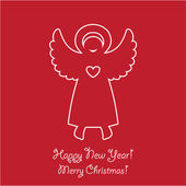 Template-of-New-Year-congratulation-Christmas-Angel