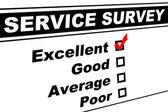 Fotografie Excellent Customer Service Survey