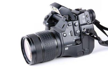 Professional digital camera with flash