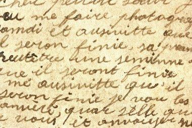 Old hand written letter