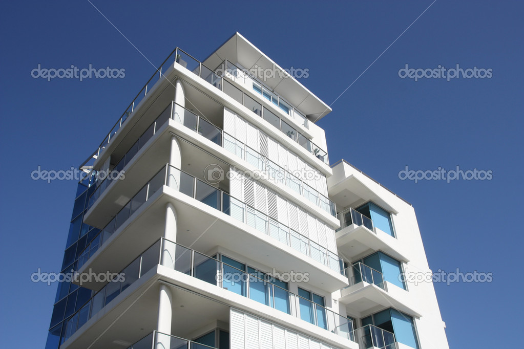 Modern Apartment Building modern apartment building — stock photo © tupungato #4529194