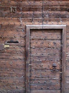 Retro wooden oak door
