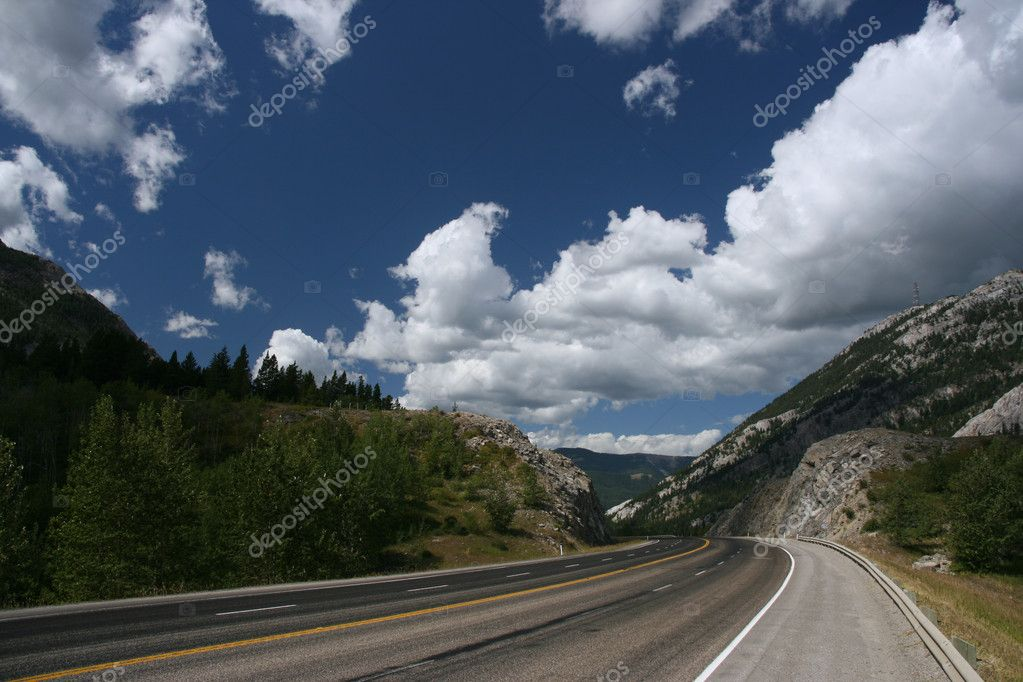 Scenic highway in Canada
