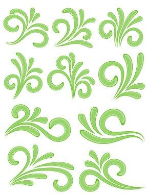 Nature design elements. Vector illustration.