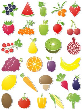 Food icons. Vector illustration.