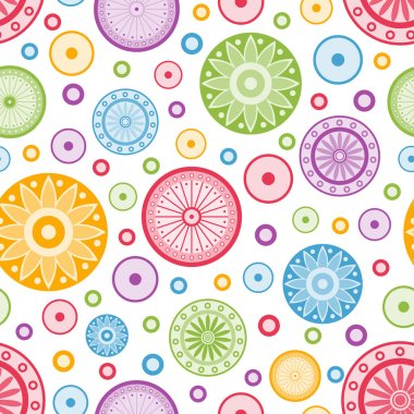 Colorful seamless background. Vector illustration