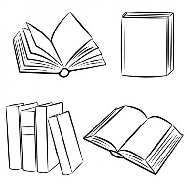 Books. Vector illustration.