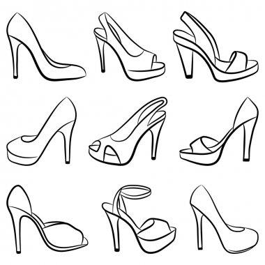 Shoes. Vector illustration.