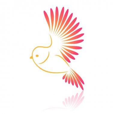 Logo bird. Parrot. Vector illustration.