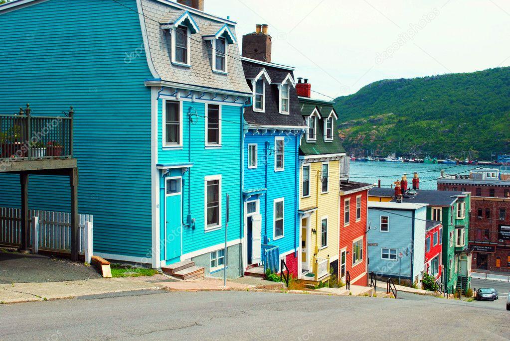 St john 39 s houses in newfoundland stock photo justek16 for Newfoundland houses