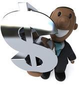 obchodní muž 3d ilustrace