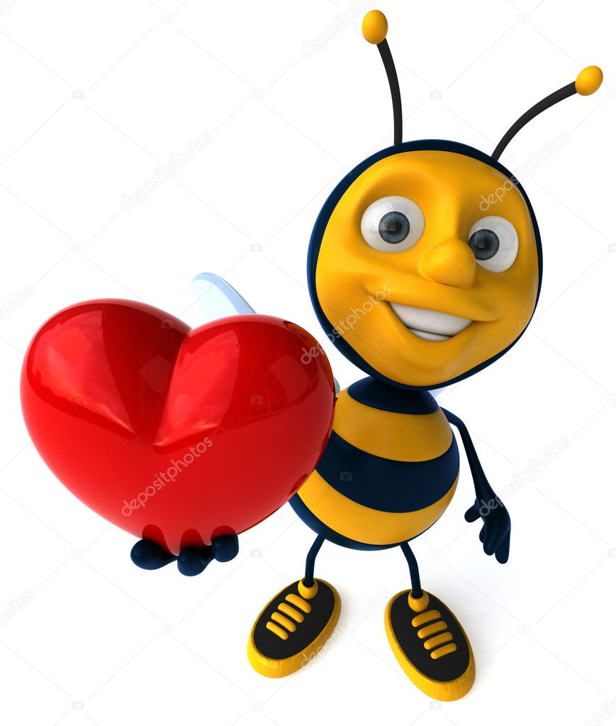 cartoon bee u2014 stock photo julos 4362561