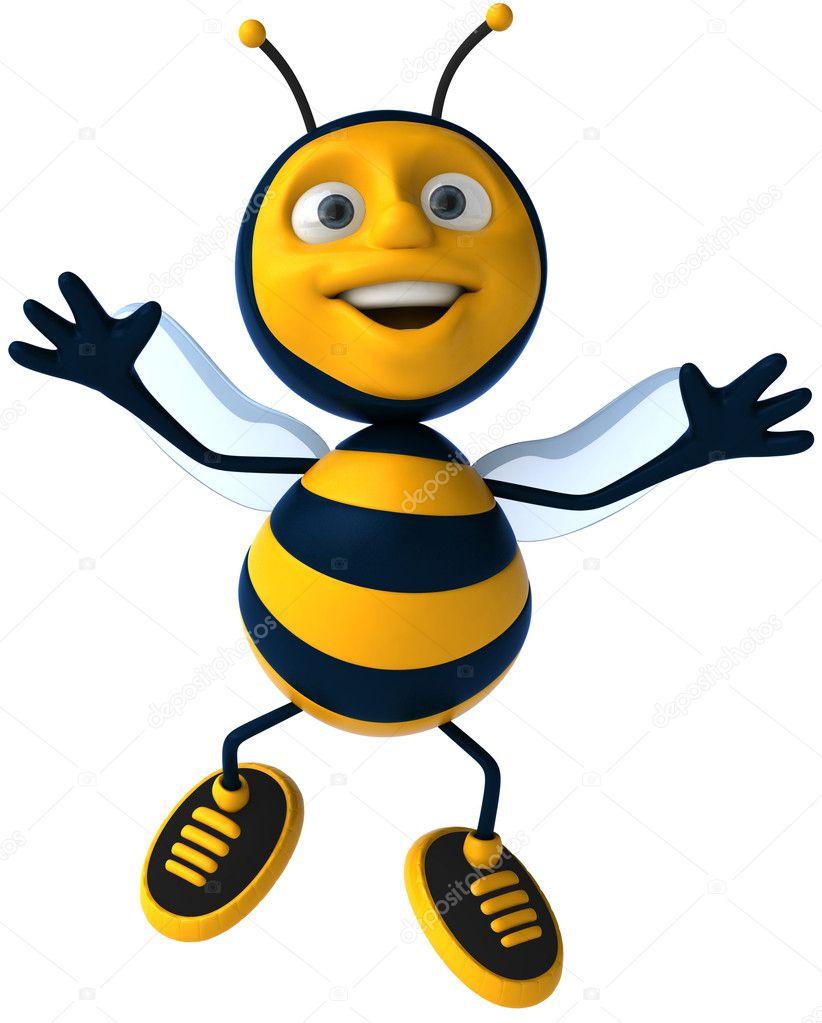 cartoon bee u2014 stock photo julos 4362600