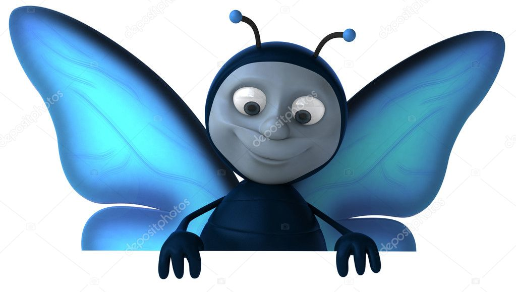 Butterfly 3d animation — Stock Photo © julos #4363210